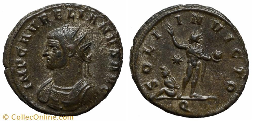 coin ancient to roman republicain imperial aurelian ric temp 2274 b1 bust