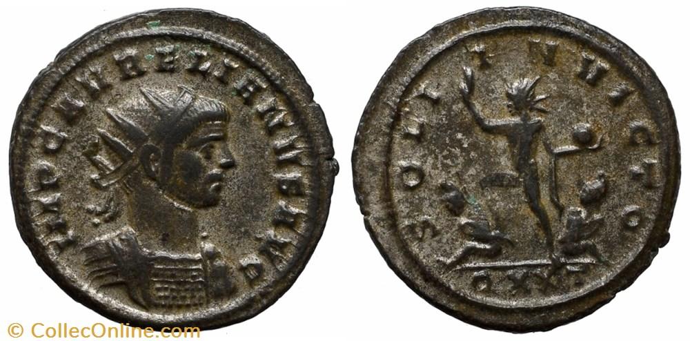 coin ancient b to roman republicain imperial aurelian ric temp 1544