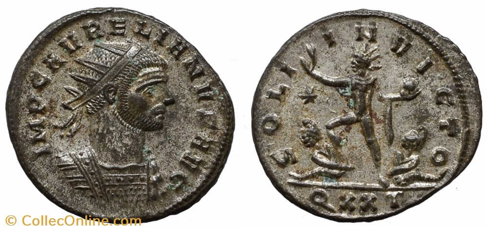 coin ancient b to roman republicain imperial aurelian ric temp 1536