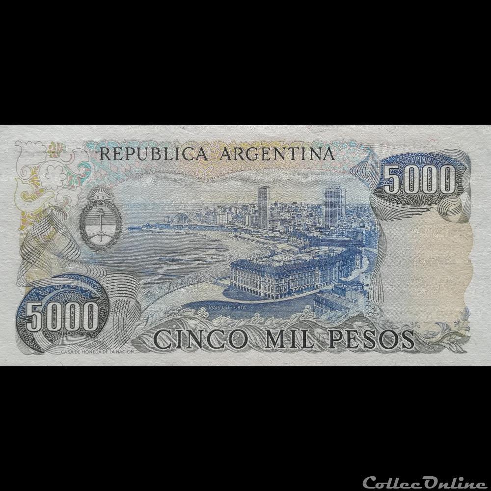 billet amerique du sud argentine p 305 b 2 5000 pesos 1983