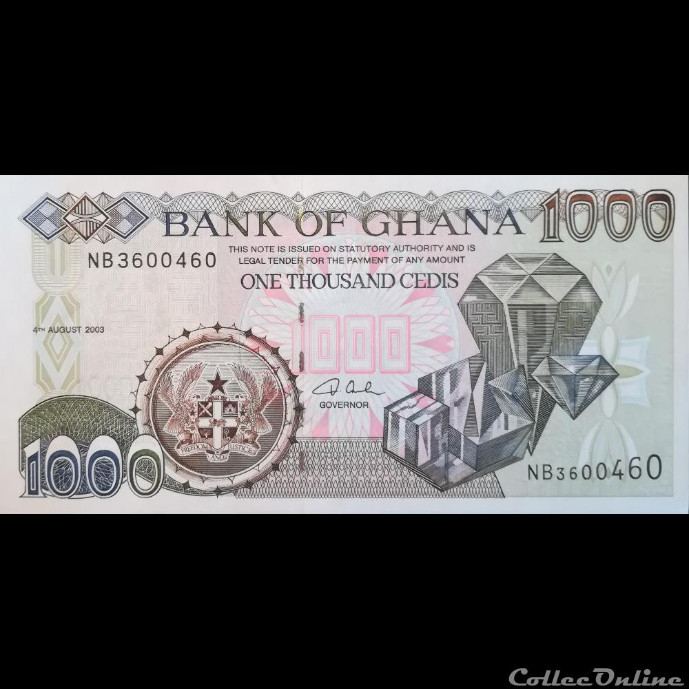 P-32 Ghana 1000 Cedis 2001 UNC