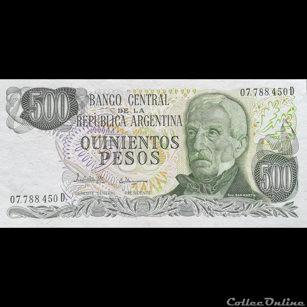 billet amerique du sud argentine p 303 c 500 pesos 1982