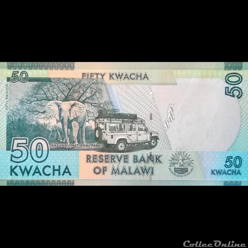 MALAWI 50 KWACHA 2017 P NEW DATE UNC