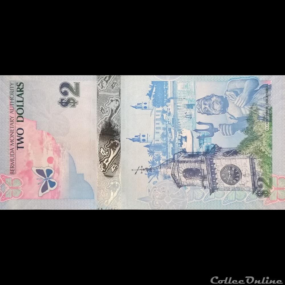 billet amerique du nord aux bermude p 057 b 2 dollars 2009