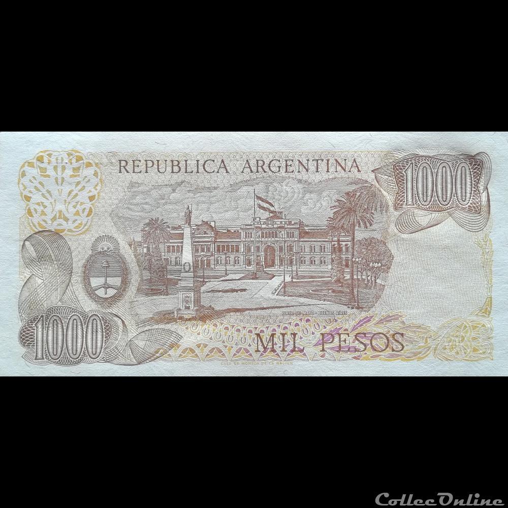 billet amerique du sud argentine p 304 d 2 1000 pesos 1978