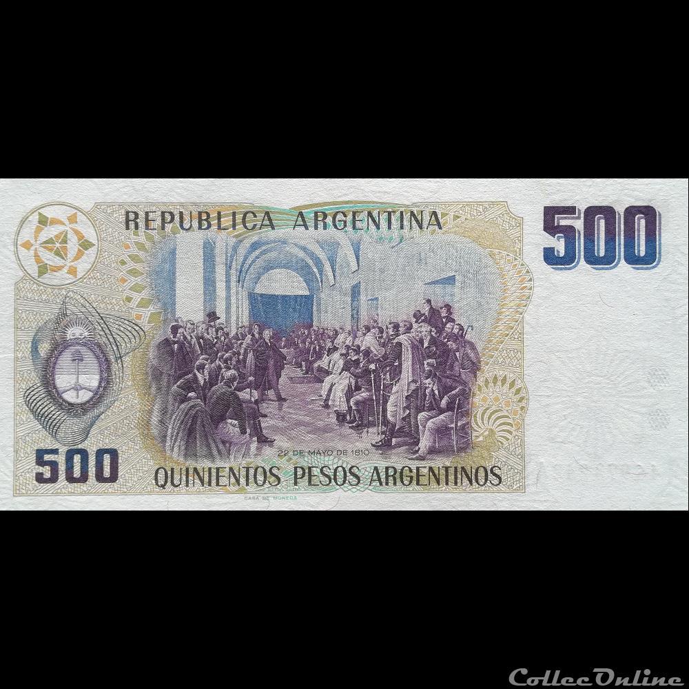 billet amerique du sud argentine p 316 500 pesos 1984
