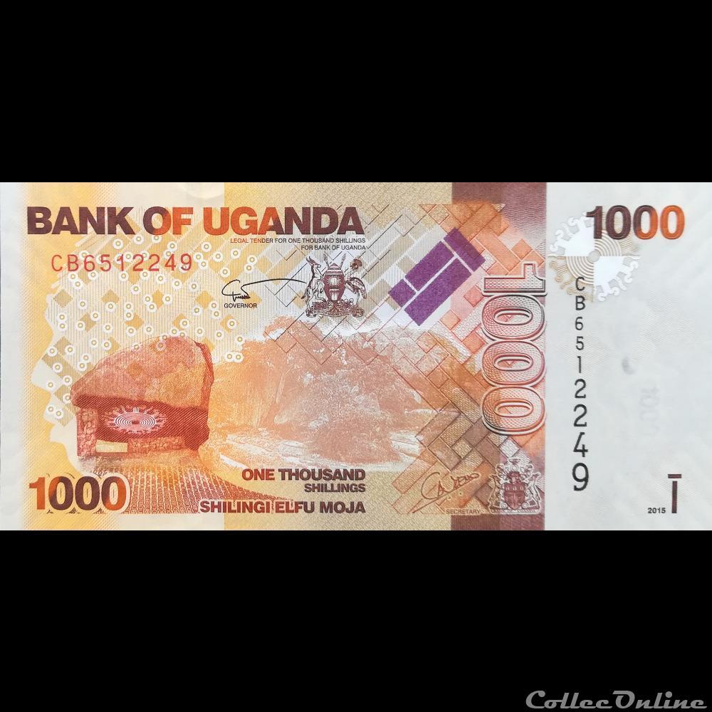 1000 Shillings 2015 UNC Uganda P 49 d
