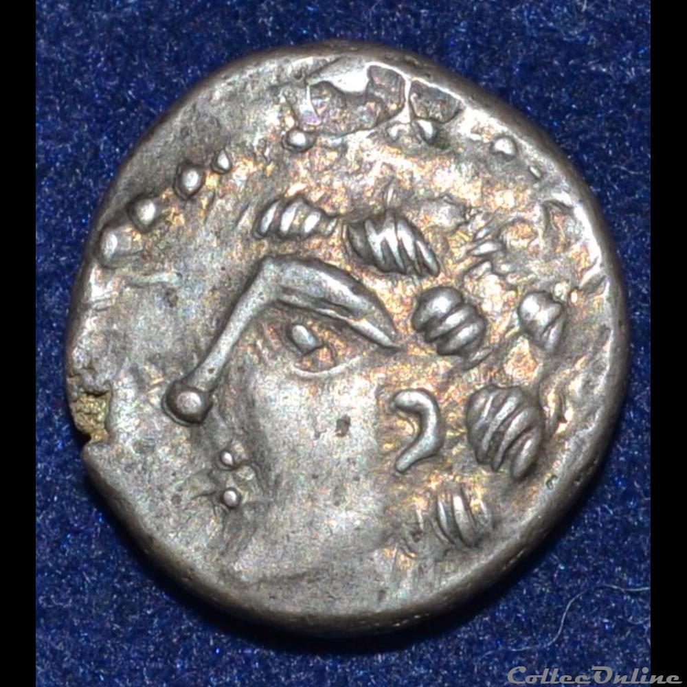monnaie antique gauloise eduens bitracte region de mont beuvray denier diasvlos