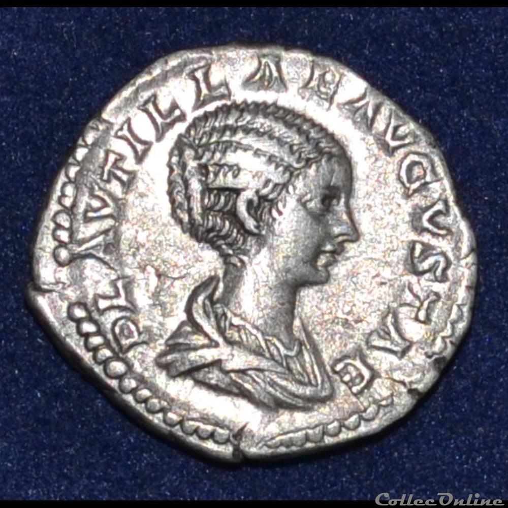 monnaie antique romaine plautille et caracalla denier