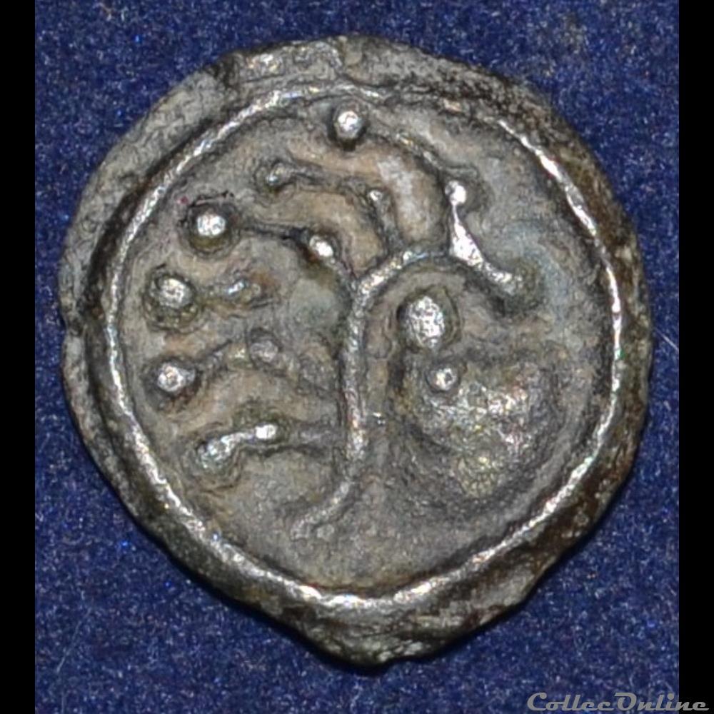 monnaie antique gauloise senons region de sens potin a la tete d indien