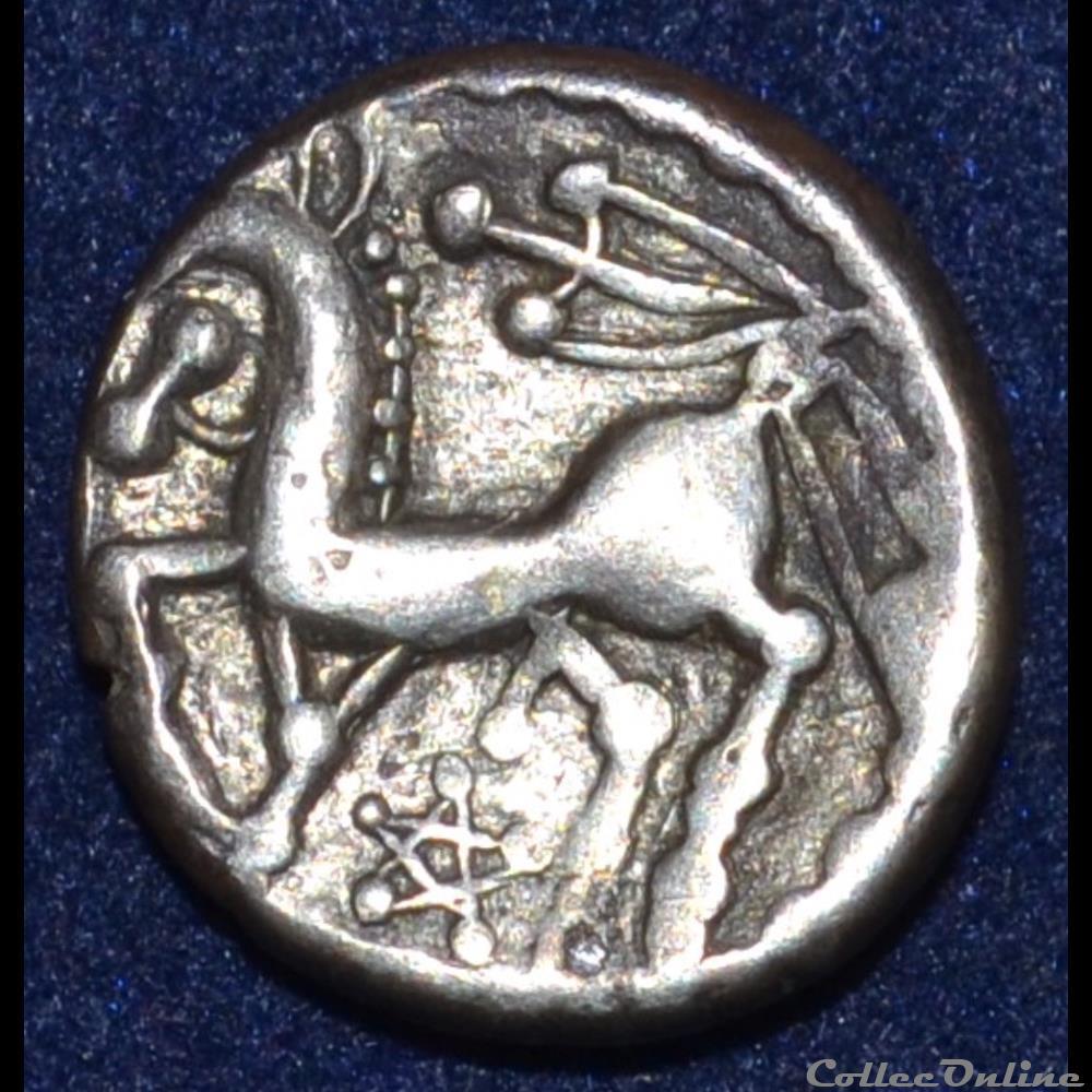 monnaie antique gauloise bituriges cubes region de bourges denier au glaive