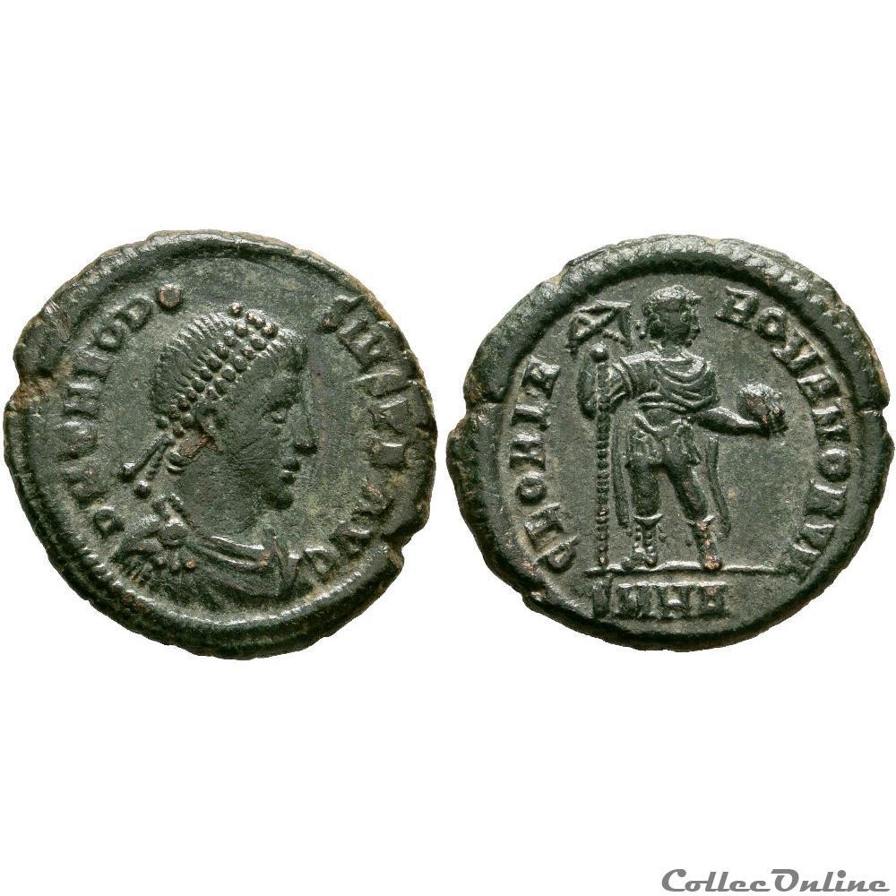 monnaie antique av jc ap romaine imperiale theodose ier heraclee officine non repertoriee dans le ric