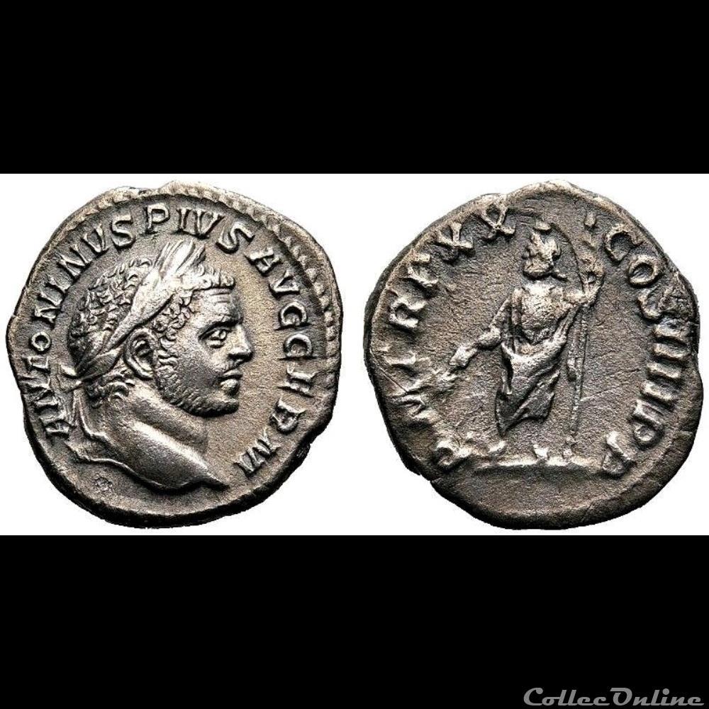 monnaie antique romaine denier de caracalla revers serapis ric 289c