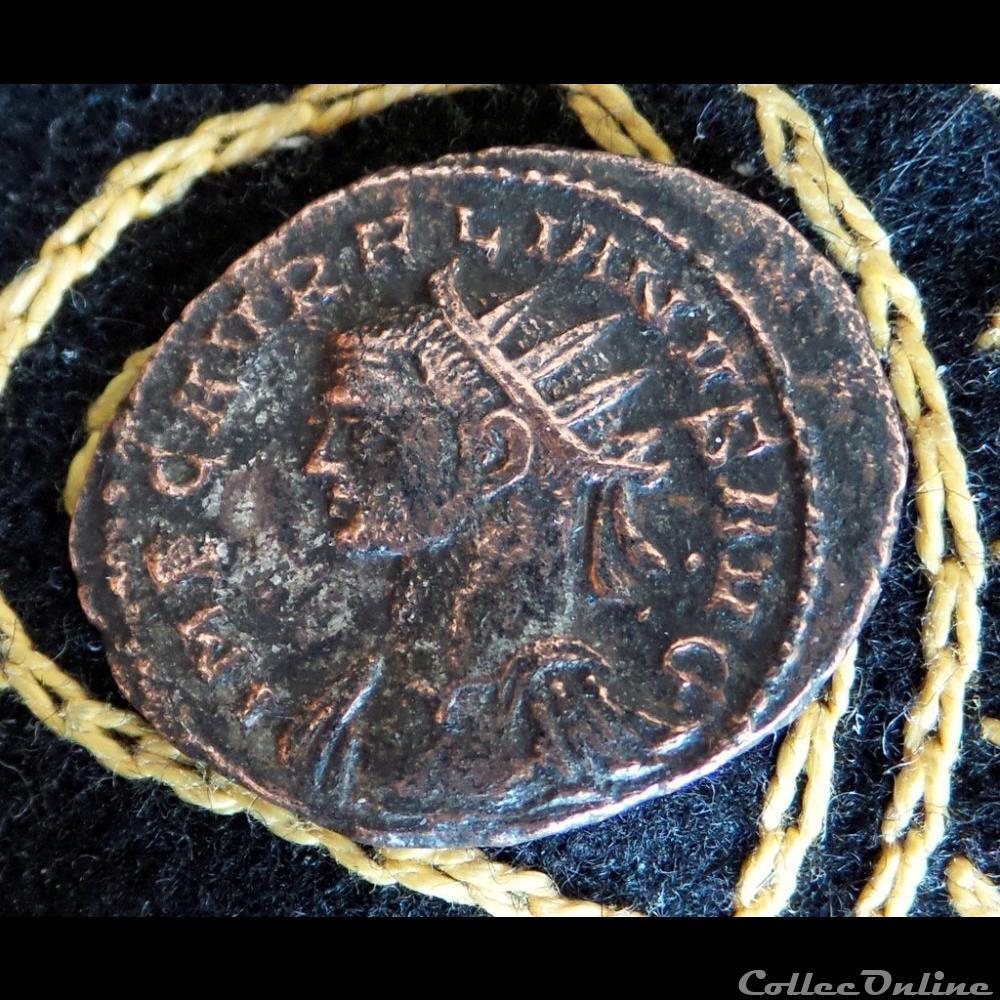 monnaie antique romaine aurelien soli invicto