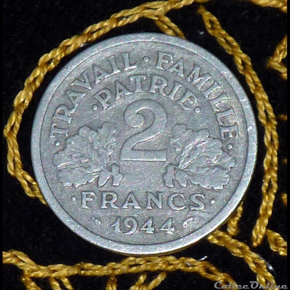 monnaie france moderne 2 francs bazor et morlon