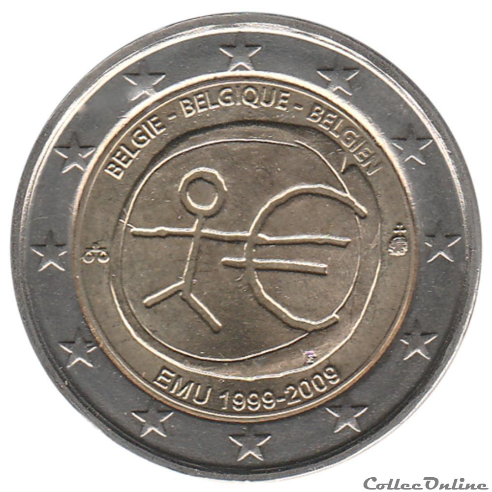 monnaie euro belgique 2009 10e anniversaire de union economique et monetaire