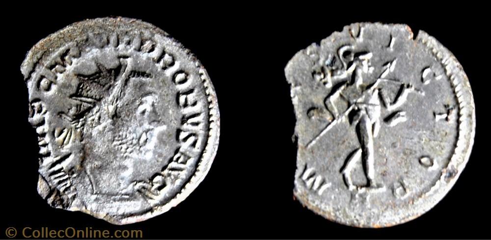 monnaie antique av jc ap romaine republicaine imperiale 198 probus mars victor