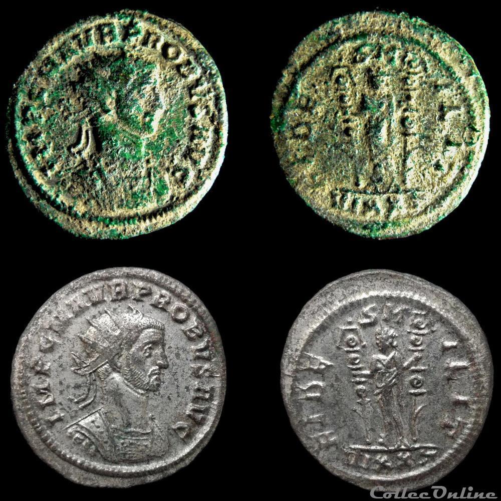 monnaie antique av jc a ap romaine probvs fides milit vixxt
