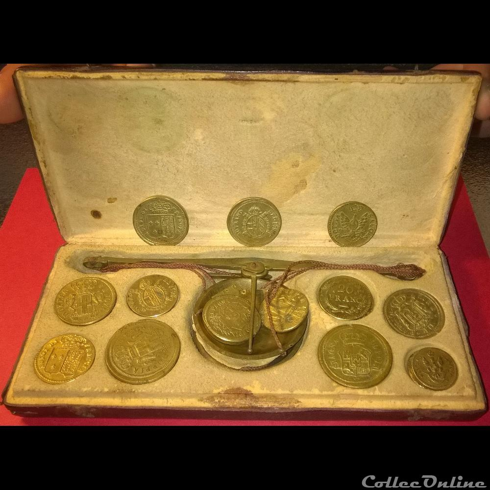 monnaie poid monetaire balance de changeur italie