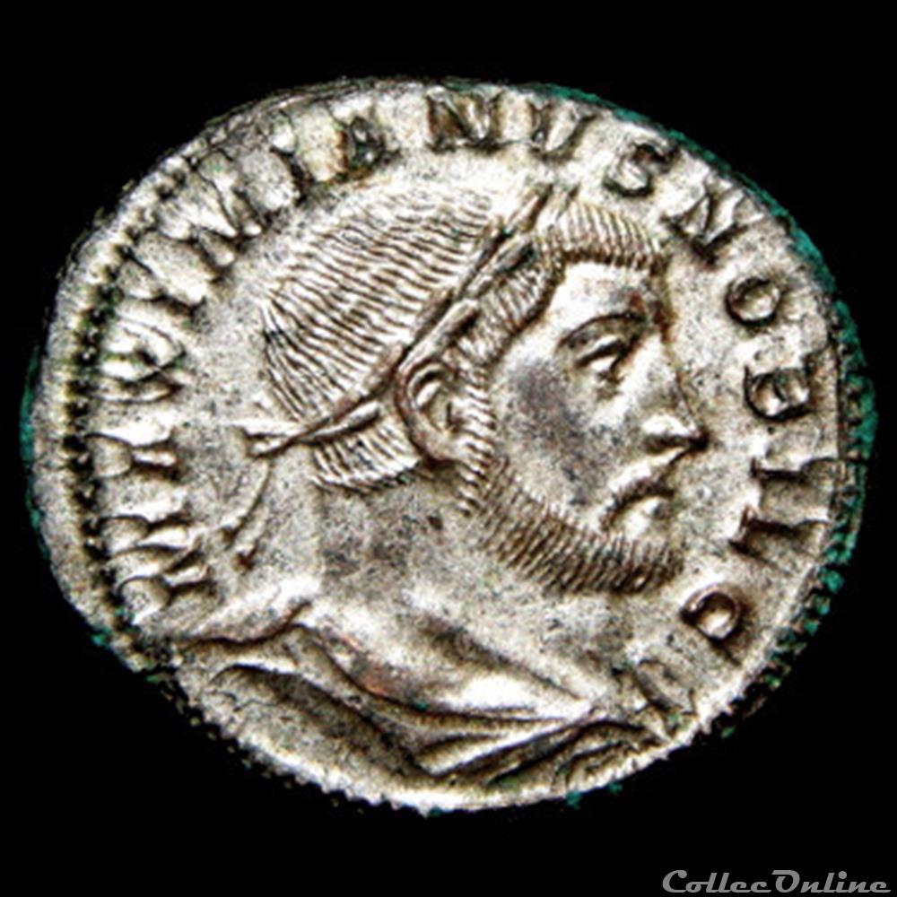 monnaie antique romaine follis de galere maximien cesar pour treves
