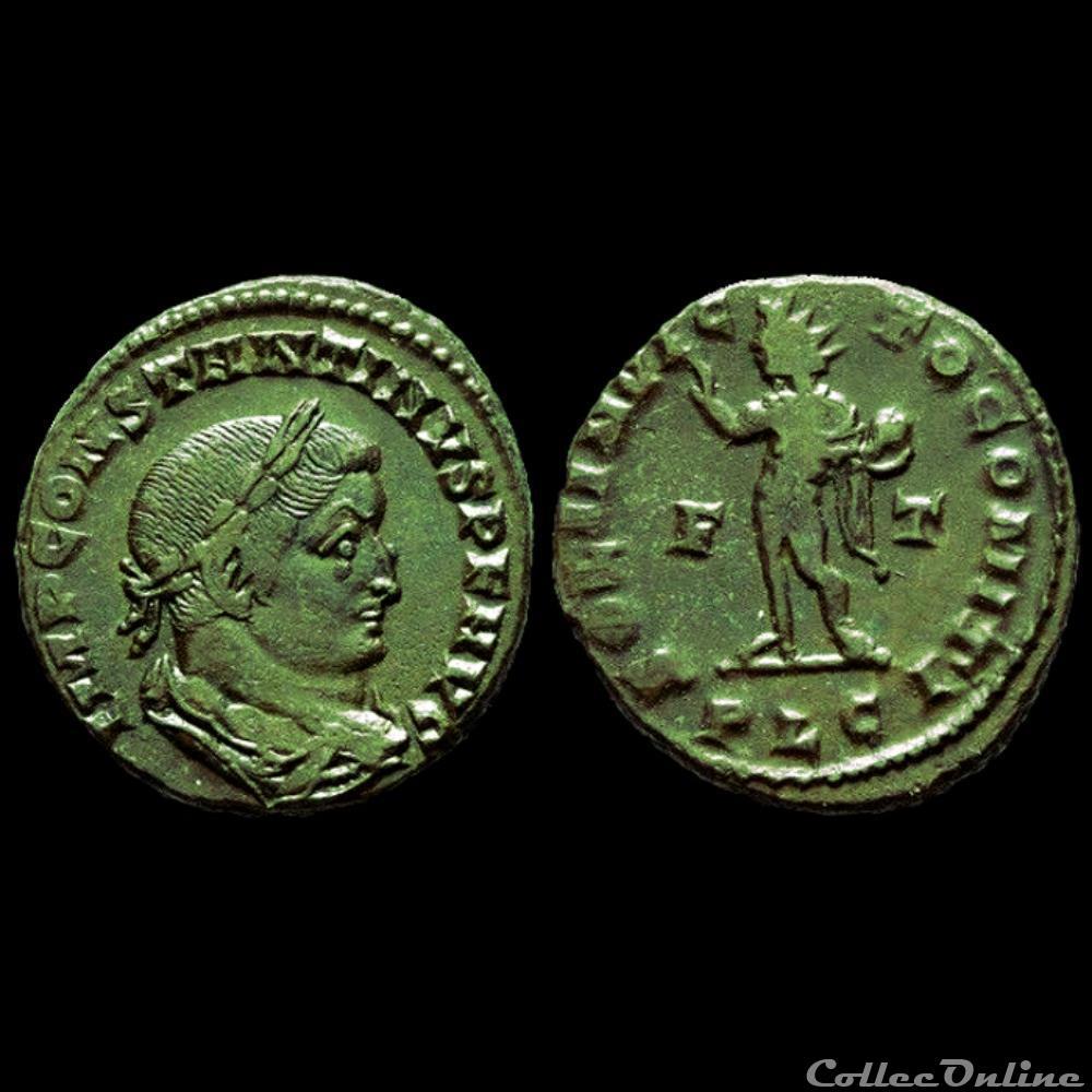 monnaie antique romaine follis de constantin i auguste pour lyon poids lourd