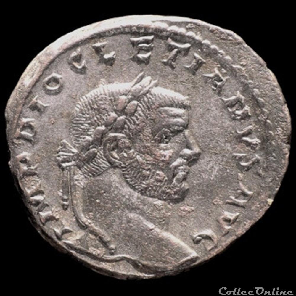 monnaie antique romaine follis de diocletien pour treves