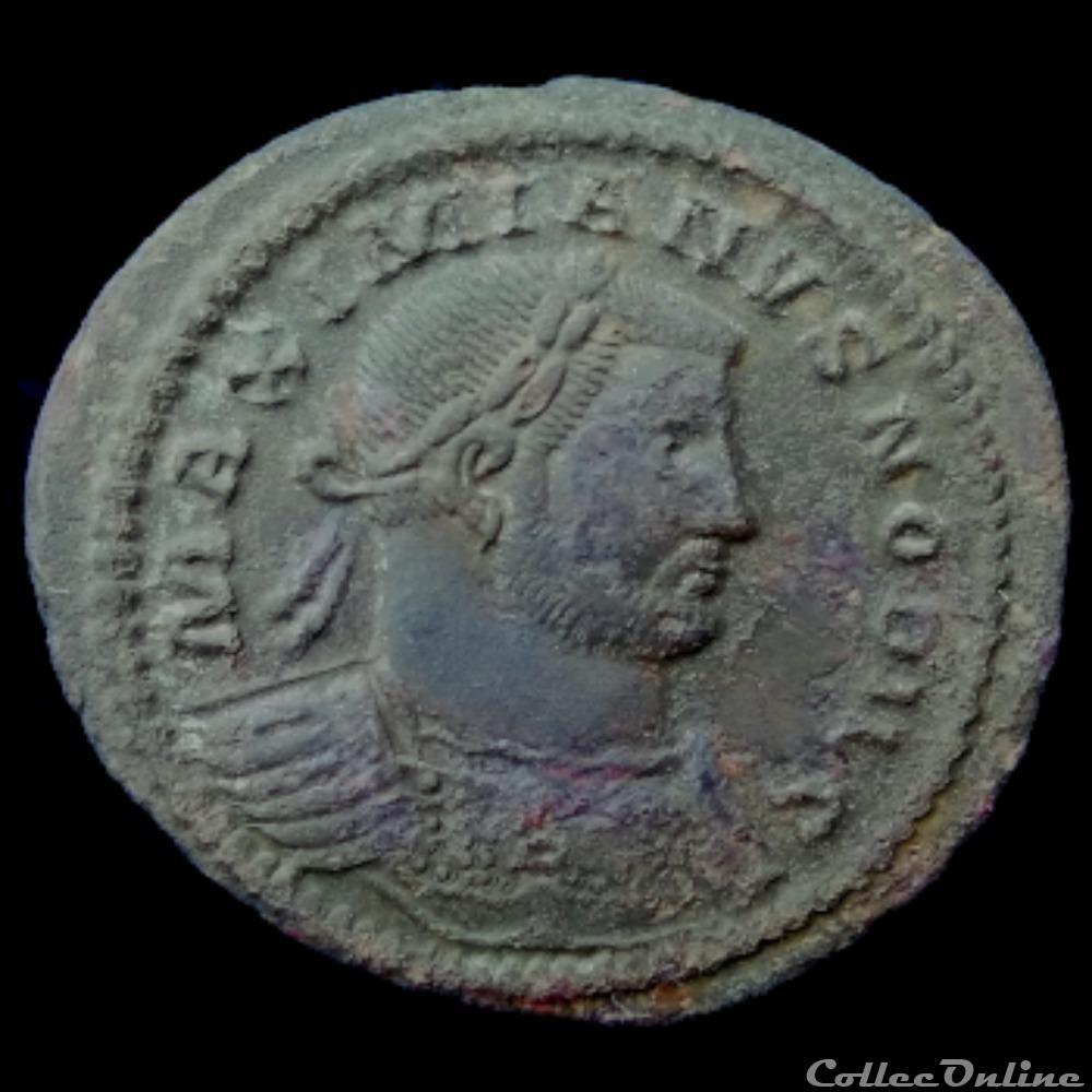 monnaie antique av jc ap romaine follis de galere maximien cesar pour treves