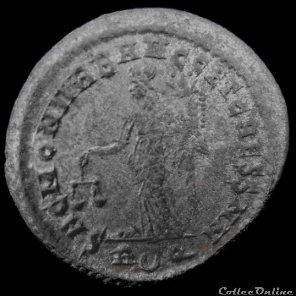 monnaie antique av jc ap romaine follis de galere maximien cesar pour rome