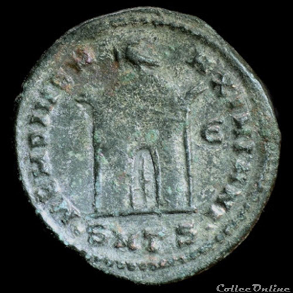 monnaie antique romaine follis de galere maximien pour tessalonique consecration