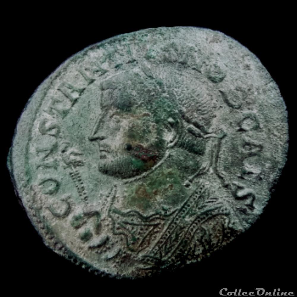 monnaie antique av jc ap romaine follis de constance chlore pour lyon