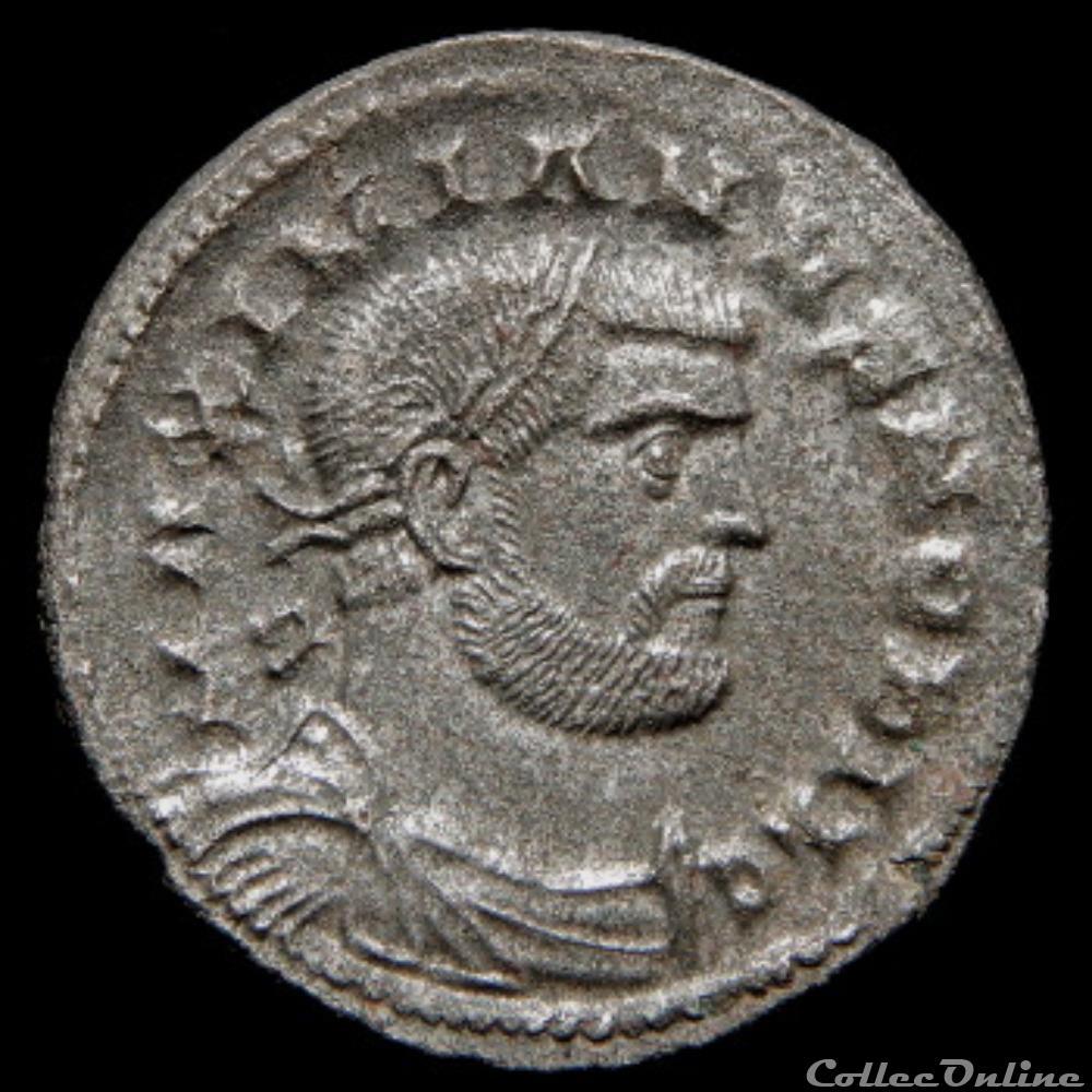 monnaie antique romaine follis de galere maximien cesar pour londres