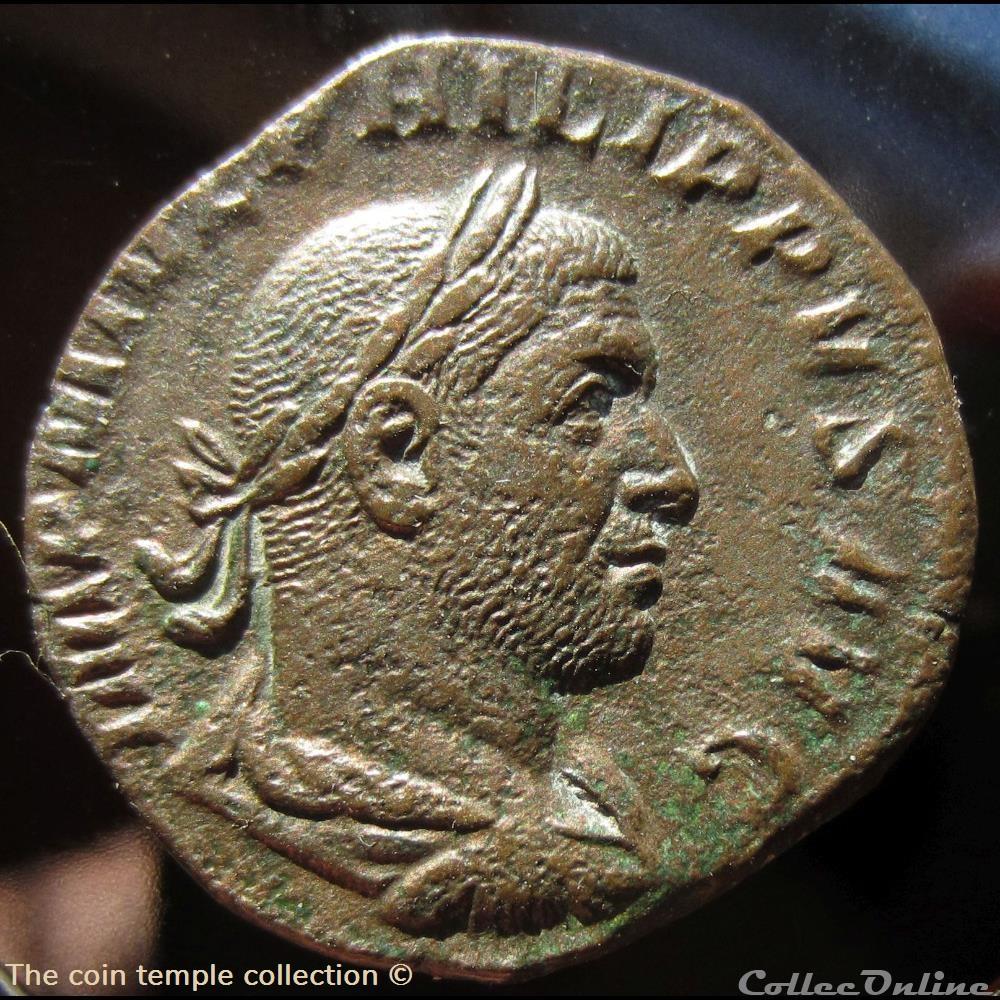 munzen antike vor j bi nach romische philippus arabs sestertius ric 150a