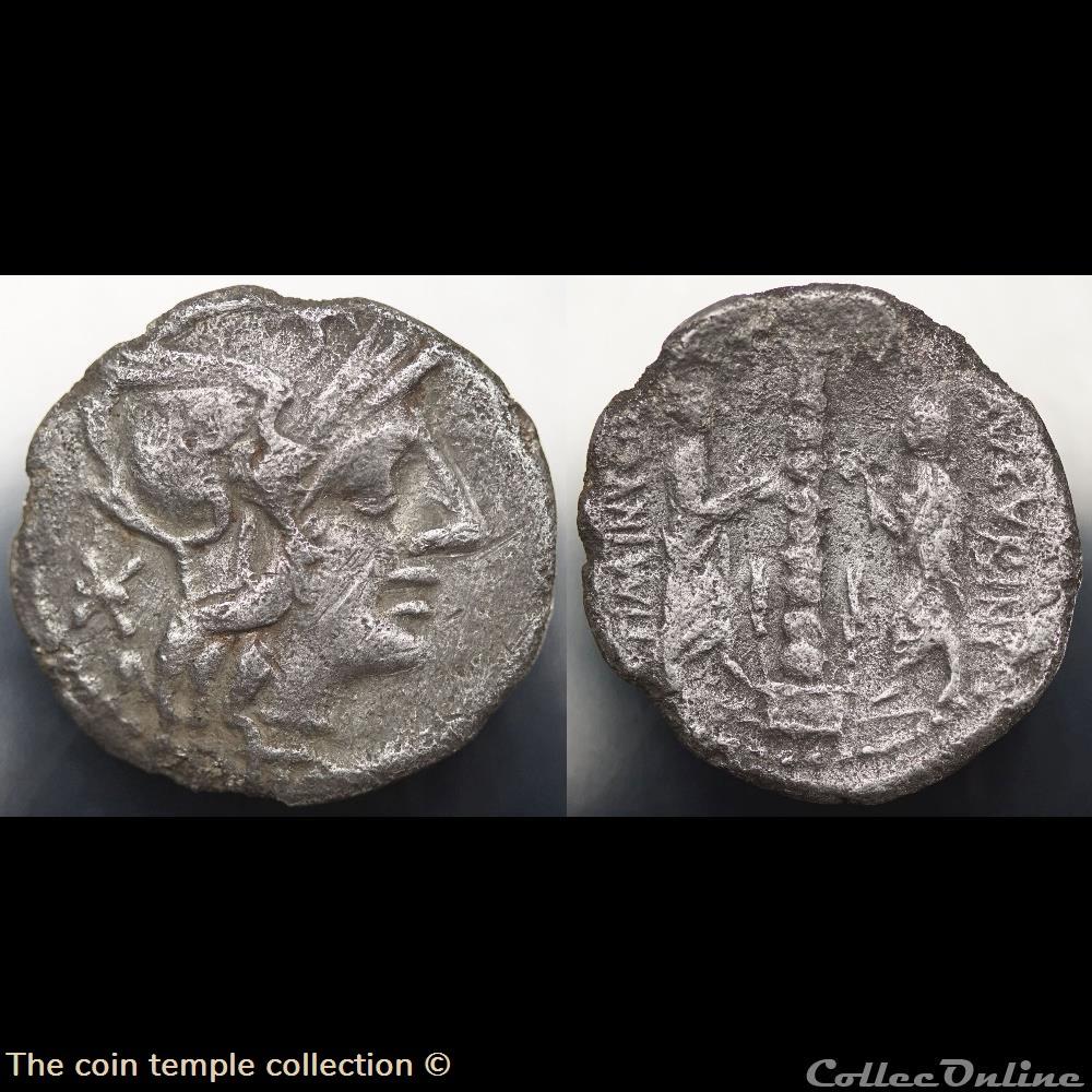 munzen antike vor j bi nach romische imperial crawford 243 1 ti minvci c f avgurini t minucius c f augurinus denar 134 rom