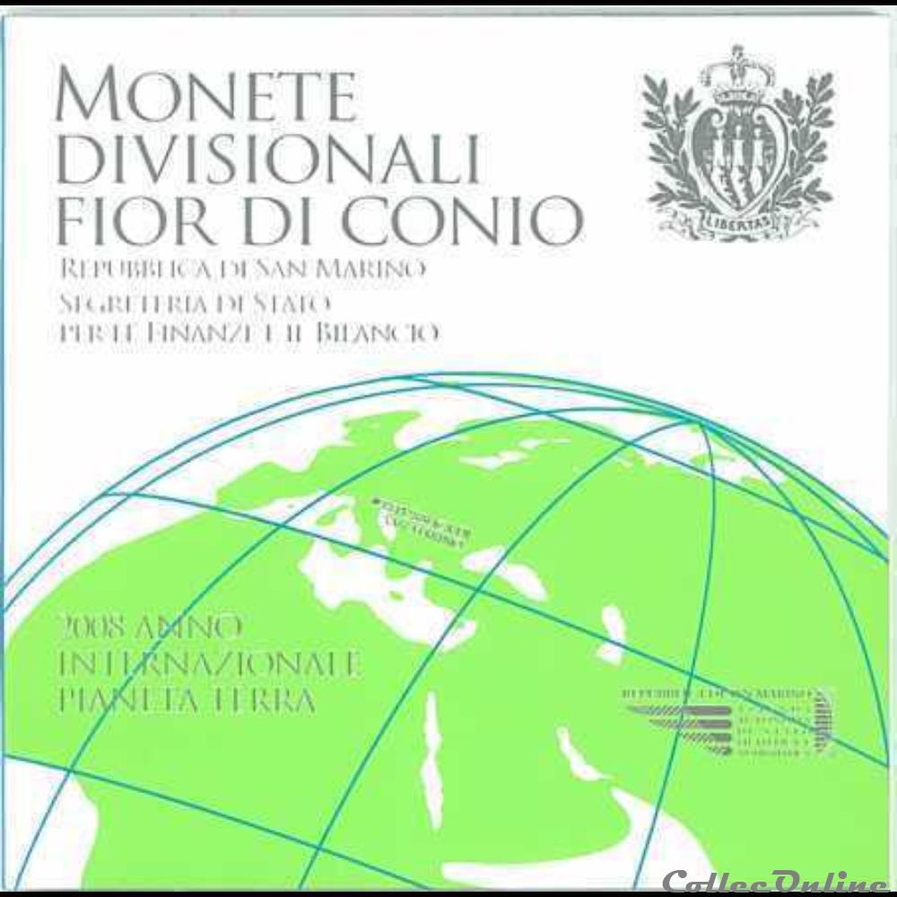 monnaie euro saint marin serie officielle bu 2008