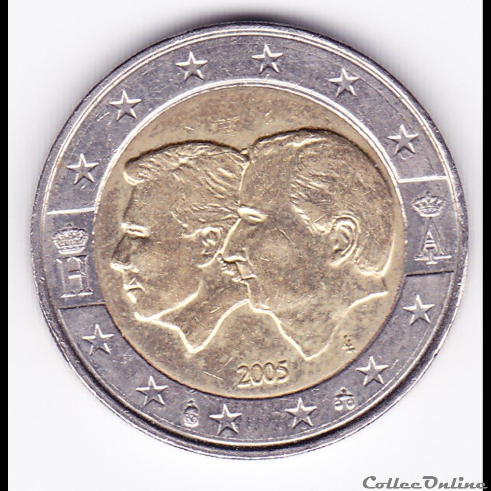 monnaie belgique piece de 2 euro union economique belgo luxembourgeoise