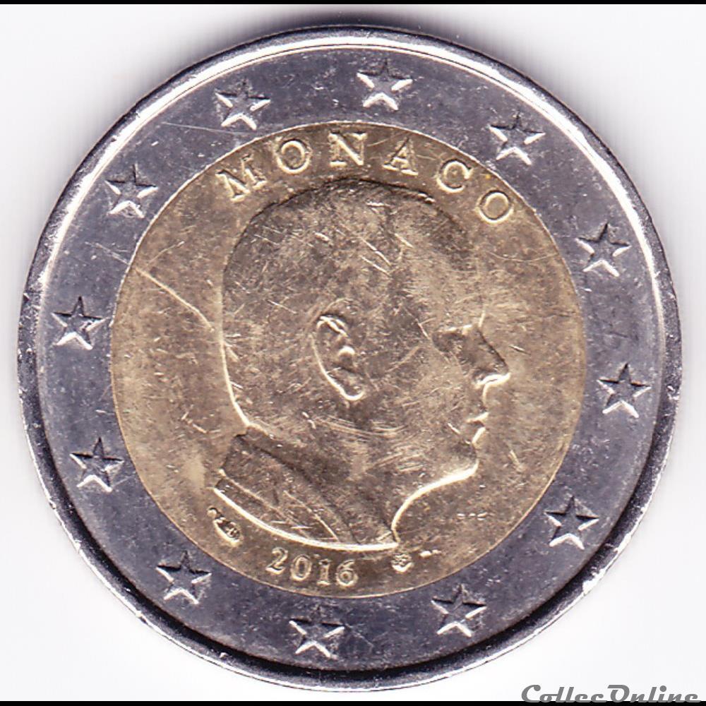 monnaie euro piece 2 prince albert ii de monaco