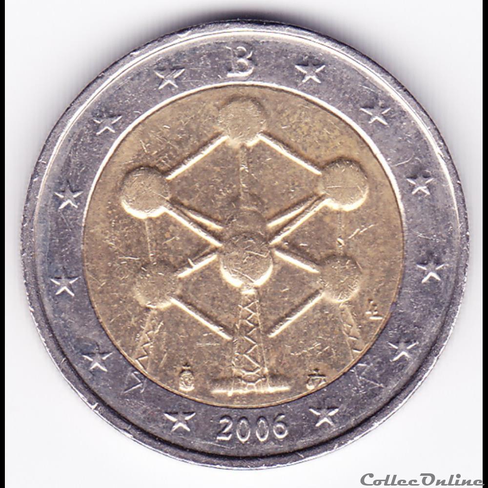 monnaie belgique piece 2 euros renovation de atomium a bruxelles