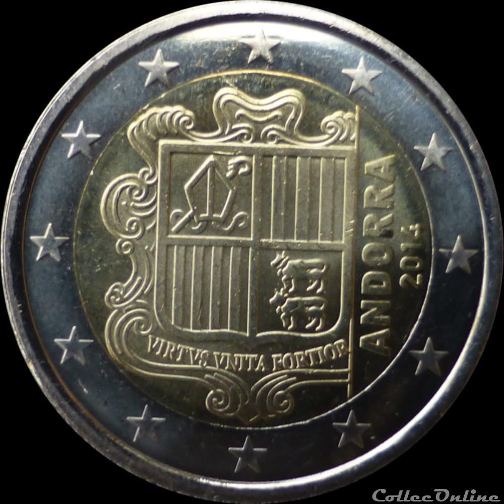 monnaie piece 2 euros armoiries de andorre