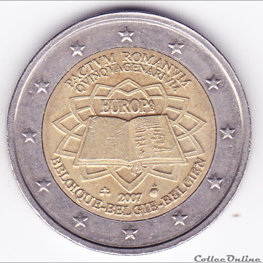 monnaie belgique poece 2 euros 50e anniversaire du traite de rome
