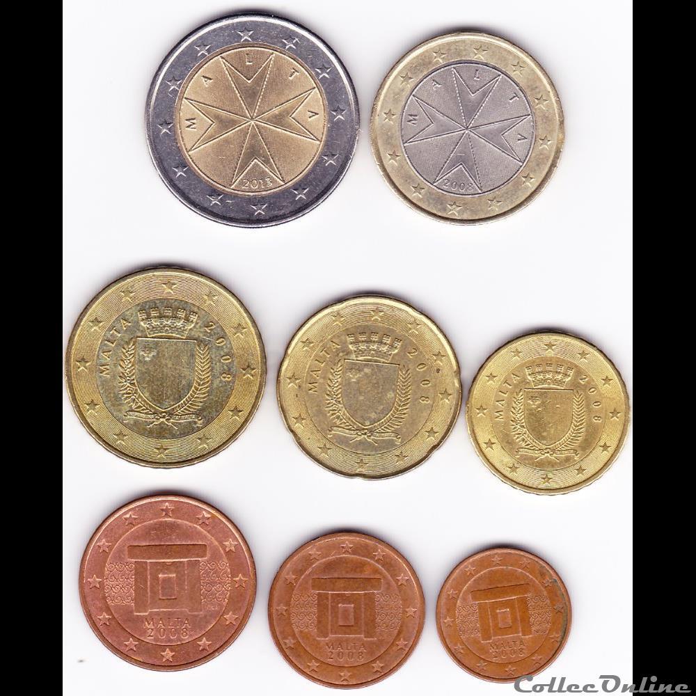 monnaie euro serie courante complete malte