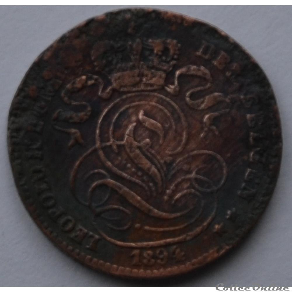 monnaie monde belgique 1 centime 1894 nl