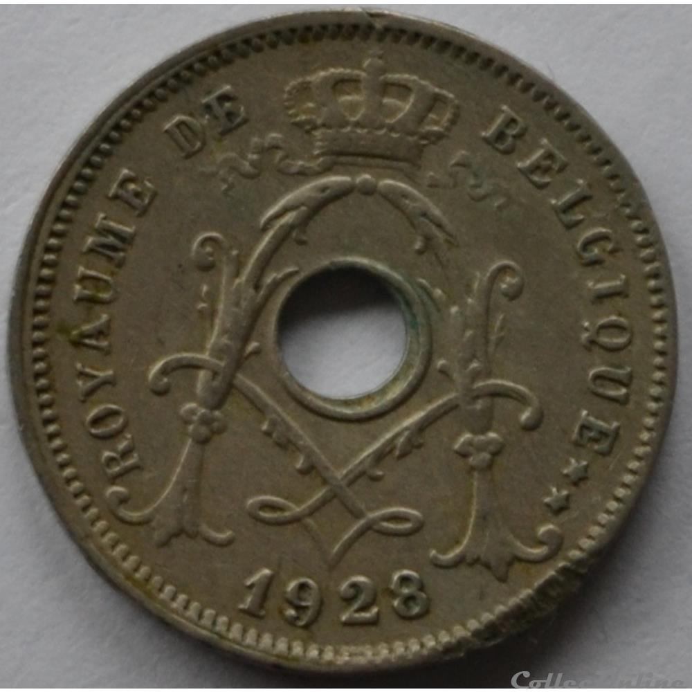 monnaie monde belgique 5 centimes 1928