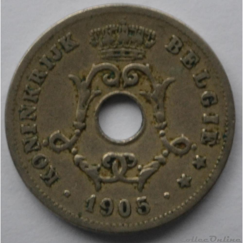 monnaie monde belgique 10 centimes 1905 nl