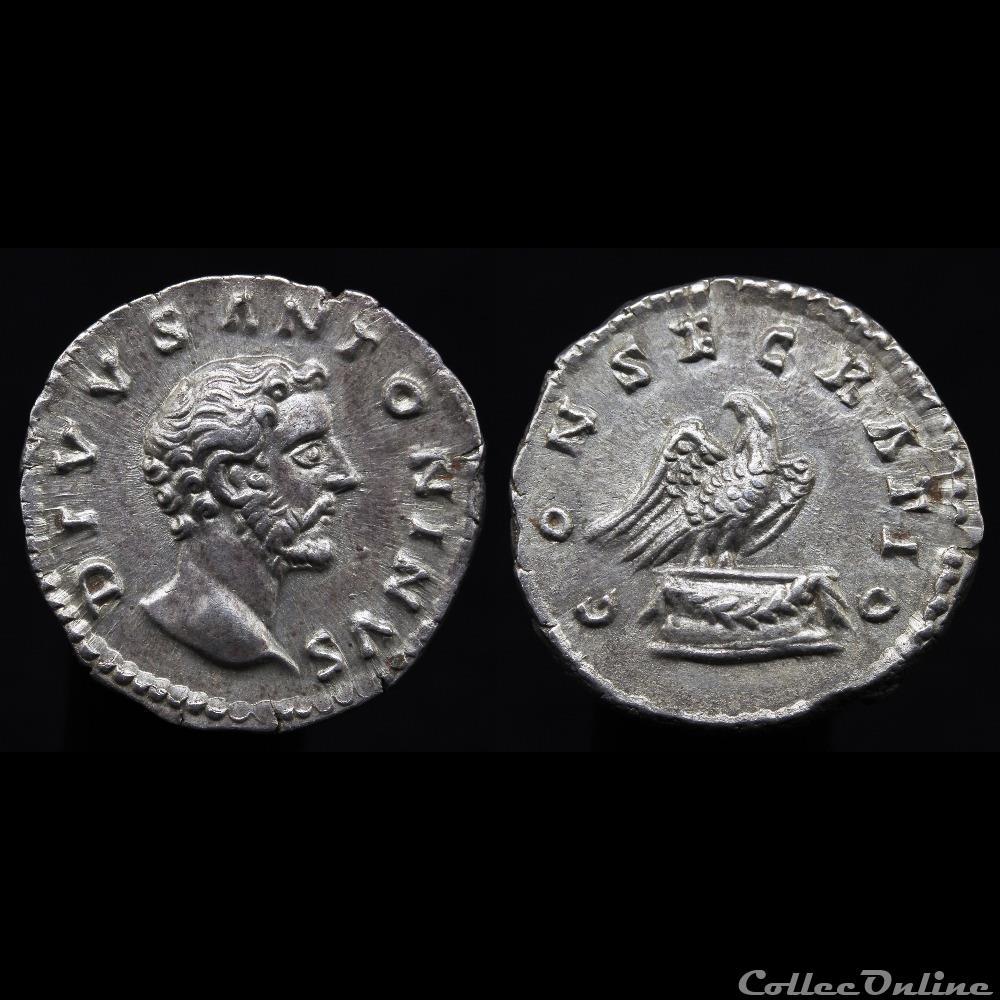 monnaie antique romaine antonin le pieux 138 161 denier consecratio