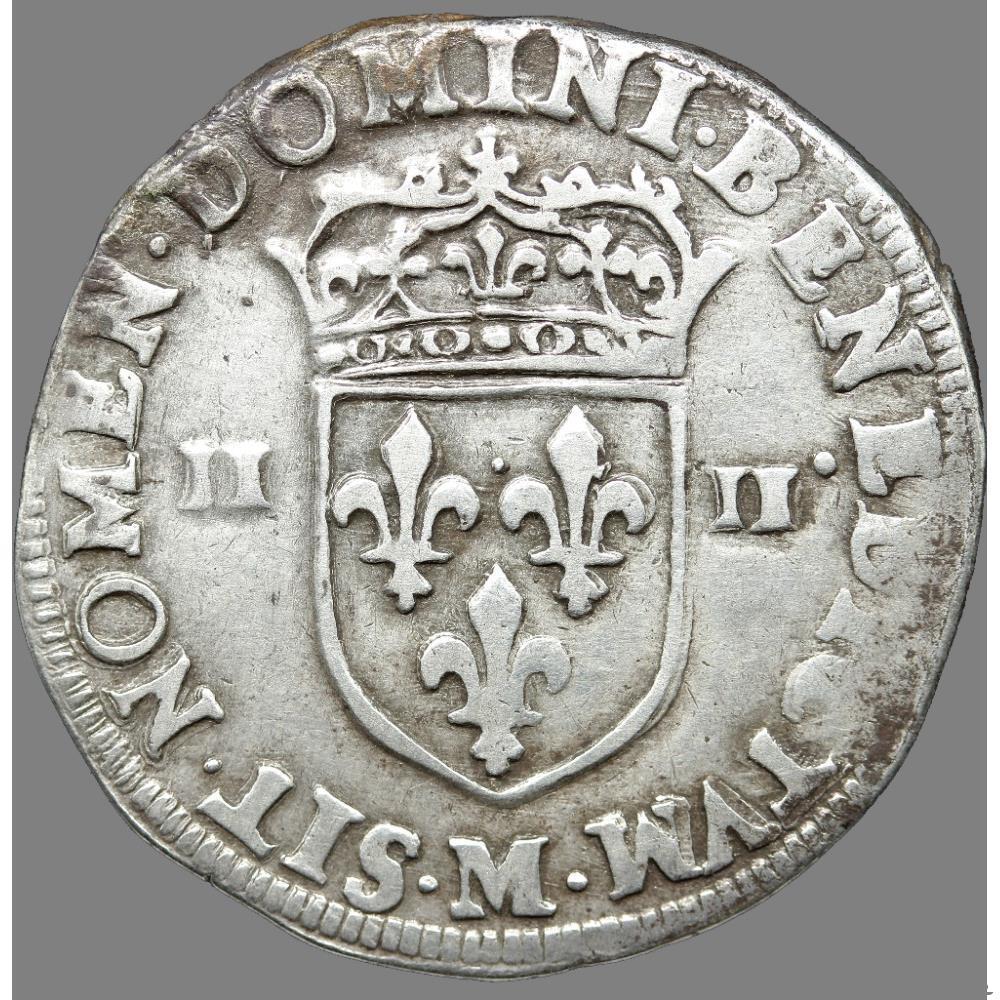 monnaie france royale henri iv quart ecu croix feuillue de face 1596 m toulouse
