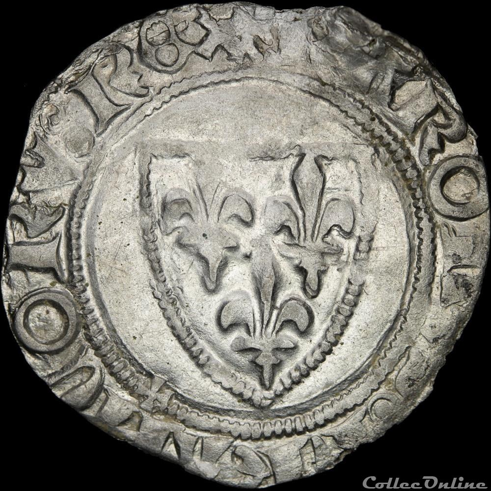 monnaie france royale charles vi 1380 1422 blanc saint poucain