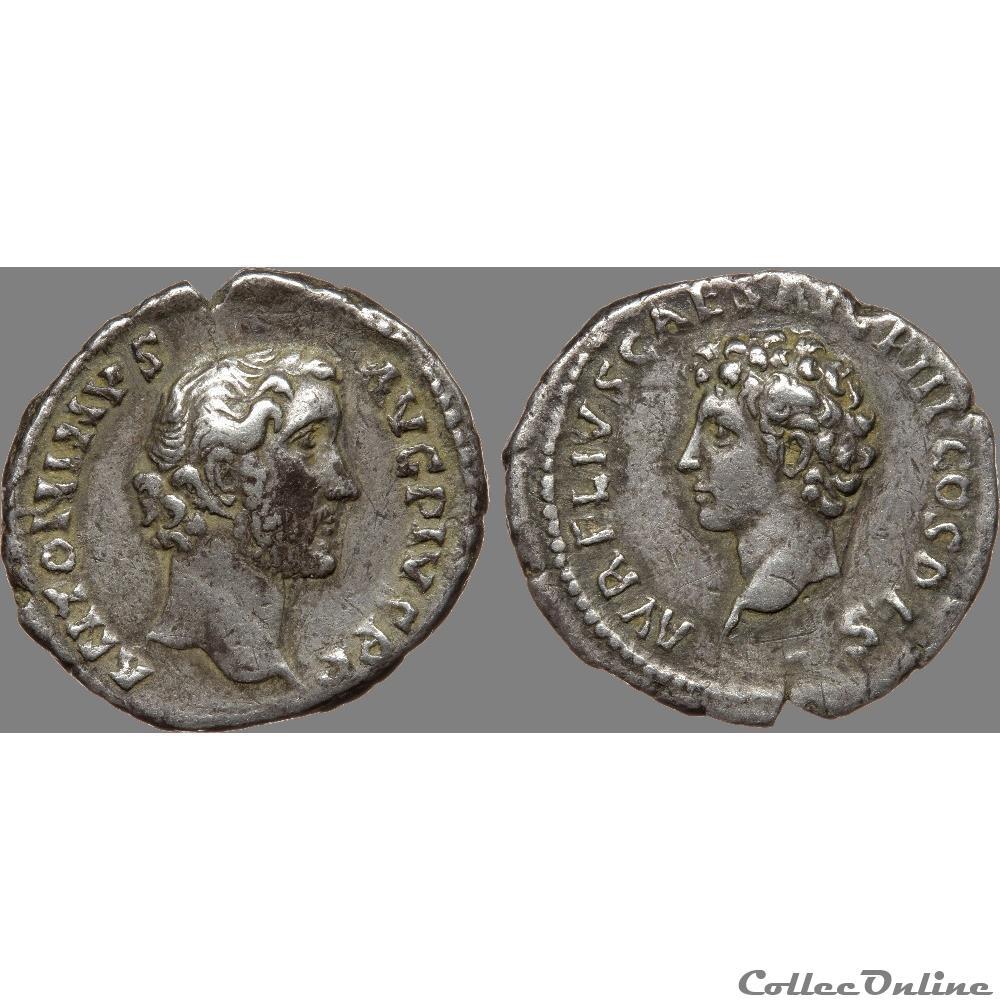 monnaie antique romaine antonin le pieux 138 161 denier antonin et marc aurele