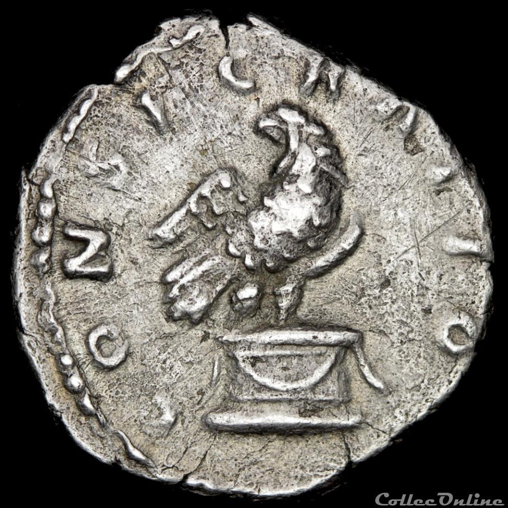 monnaie antique av jc ap romaine antonin le pieux 138 161 denier consecratio