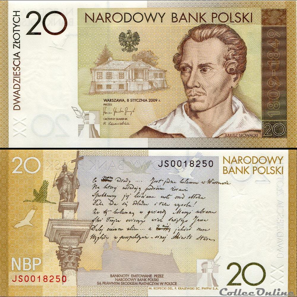 billet ouzbekistan pologne pick 180 20 zlotych 2009