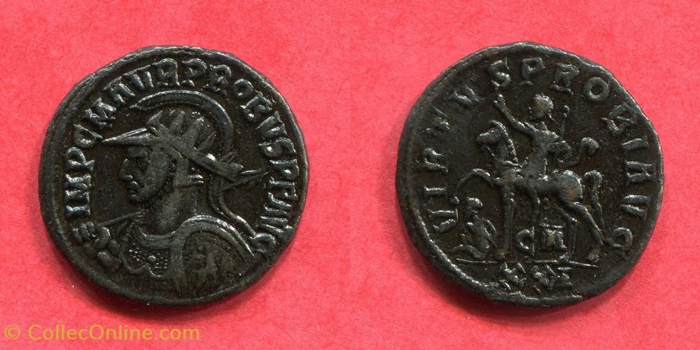 monnaie antique jc ap romaine republicaine imperiale probus virtvs probi avg ric 913 v